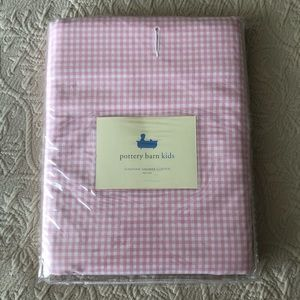 Pottery barn kids shower curtain pink gingham